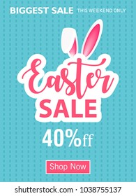 Abstract design of Easter Celebration 2018 , editable vector illustration composed of easter elements like bunny, carrots , egg and text of happy easter