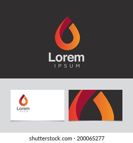 Abstract design element with business card template 04