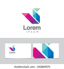 Abstract design element with business card template - 16