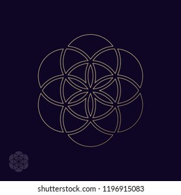 Abstract design element, flower of life. Vector illustration