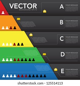 Abstract design element, Infographic background.eps10