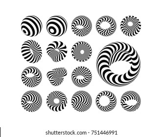 Abstract Design Element. Optical Art. Vector illustration.