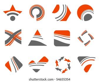 abstract design elements - vector set