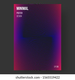 Abstract design, illustration of poster. Colorful outline shapes. Colors name: spanish crimson, indigo, eerie black. Template, cover. Concept design. Eps10 vector.