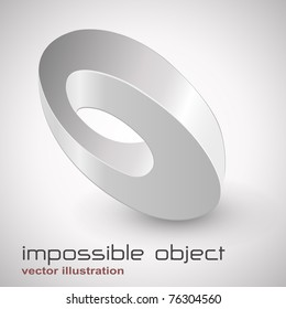 Abstract design, impossible object - vector.