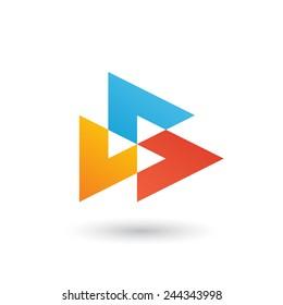 Abstract design logo icon template.