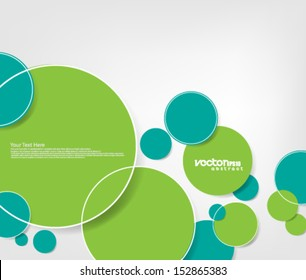 Abstract Design Overlapping Circles Background