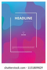 Abstract Design Poster Template Vector Illustration
