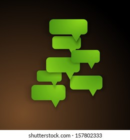 Abstract design - Speech bubble green