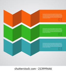 Abstract Design Template / procedure steps / tutorial banners.