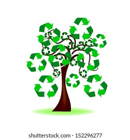 Abstract Design - Tree with recycling icon