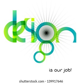 abstract design, typographic illustration