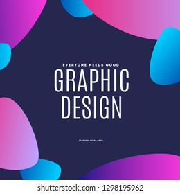 Abstract design of vector elements for graphic template. Modern black background. Colourful smooth lines for party, celebration, anniversary, festival