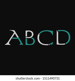 Abstract Design Vintage letter ABCD logo icon. Creative Vector Design Letter ABCD Logo icon for business, initial, brand identity