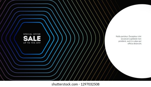 Abstract design for wallpaper, website, landing. Web creative graphics with trendy colours and lines. Vector composition.