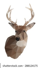 An abstract design of a whitetail deer buck isolated on white. Vector EPS 10.