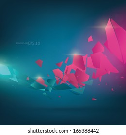 Abstract destroy shine line background Vector