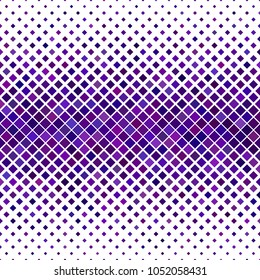 Abstract diagonal square pattern background - geometrical vector graphic from squares in purple tones