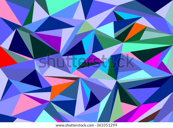 Abstract Diamond Background Vector Refraction Multicolored