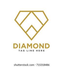 abstract diamond logo template
