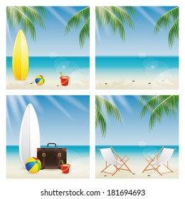 Abstract different summer background with different special objects