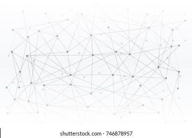 Abstract Digital background of Science or Blockchain. Molecules or blocks are connected. Vector Illustration.