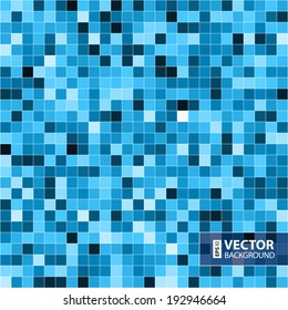 Abstract digital blue pixels seamless pattern background. RGB EPS 10 vector illustration