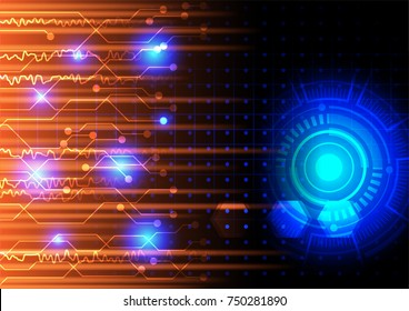Abstract digital data concept, vector technology background