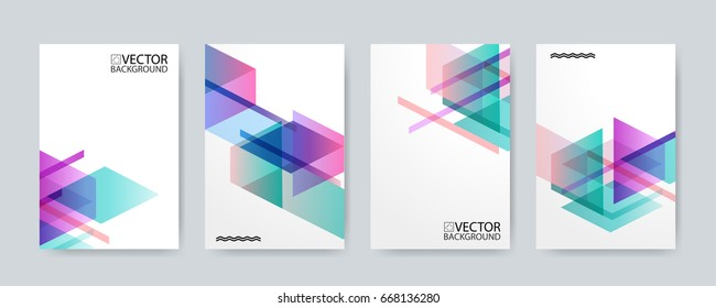 Abstract digital hologram style geometric trendy background. With place for your message. Business or tech presentation, cover template.