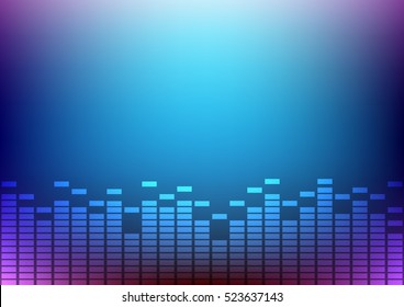 Abstract digital and music beats background that can used for business presentation.