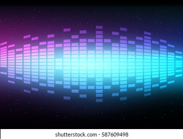 Abstract digital and music beats with light effect background that can used for business presentation.