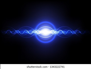 abstract digital sound wave, internet signal technology, vibration electric line background