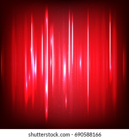 Abstract digital Sound waves with flowing particles. Cyber or technology background. Vector illustration.