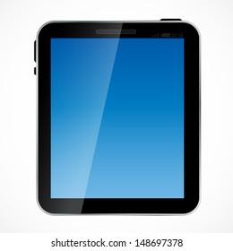 Abstract digital tablet vector illustration