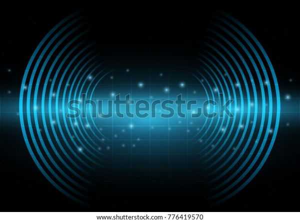 Abstract Digital Technology Background Sound Waves Stock