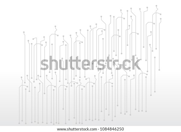 abstract digital technology circuit board vector background.