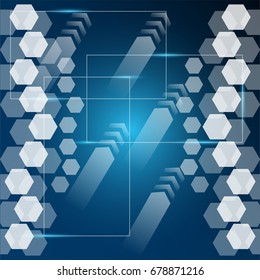 Abstract digital technology concept blue background. vector illustration. eps10