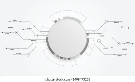 Abstract Digital Technology Cycle background.Business growth transformation to digital and Successful financial technology.