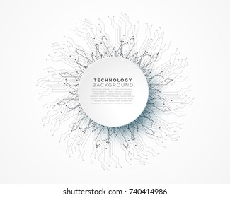 abstract digital technology network lines vector background