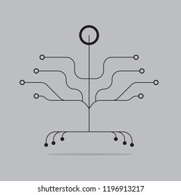 abstract Digital Tree logo designs concept.Digital Technology Growth and Business Success.