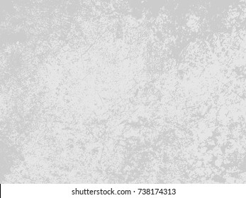 Abstract distress floor, white and gray background, stucco grunge, cement or concrete wall textured. Vector illustration design with copy space.