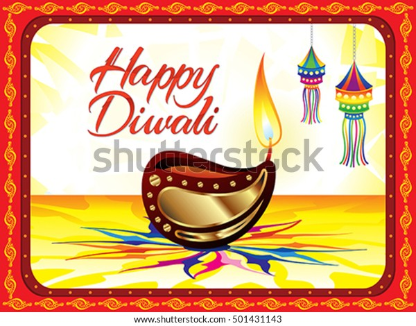 Abstract Diwali Background Vector Illustration Stock Image