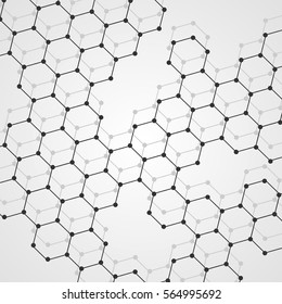Abstract DNA background. Vector illustration. Beautiful structure of the spiral molecule