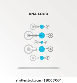 Abstract DNA strand symbol.