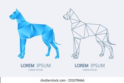 Abstract dog logo. Vector logotype design.