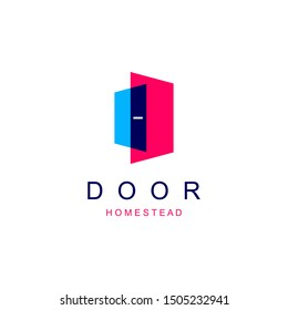Abstract Door Logo For Hotel and Homestead Company Logo. vector illustration