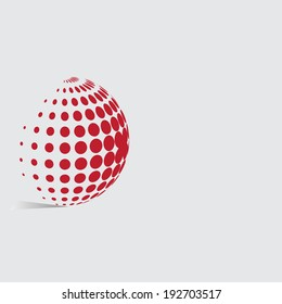 Abstract dots background for your text and logo - vector illustration