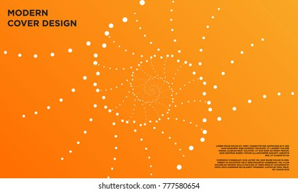 abstract dotted circular pattern cover design
