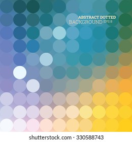 Abstract dotted colorfully background, vector editable eps 8