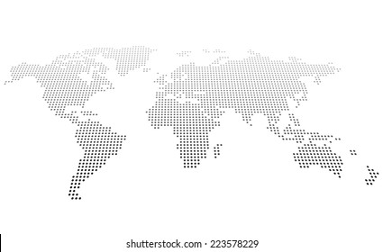 Abstract dotted map